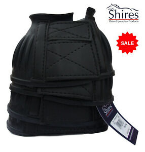 SALE Two Pairs Shires Rubber Bell Over Reach Horse Pony Boots Touch Close  BLACK