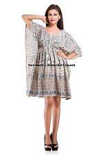 Beach Cover Up Kaftan Boho Hippy New Indian Plus Size Women Dress Shirt Sarong