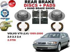 FOR VOLVO V70 LV ESTATE 1995-2000 REAR BRAKE DISCS SET + PADS KIT + SHOES SET