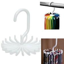 20 Hooks 360 Rotation Neck Tie Rack Hanger Belt Scarf Holder Wardrobe Organiser