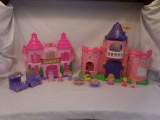 Fisher Price Little People Li Kingdom Pink Palace Castle + Figures + 2nd Castle