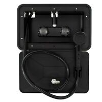 RV Exterior Outdoor Shower Box Kit Faucet Cowboy Shower Black