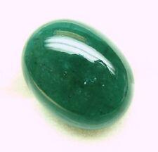 10.94 Carats  1 Pc, Natural Mined Loose Gem Oval Cabochon Emerald 16x12x7.1 MM