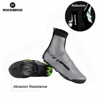 RockBros Cycling Reflective Shoes Covers Winter Warm Waterproof Overshoes Gray