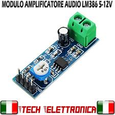 Modulo LM 386 amplificatore audio LM386 arduino pic
