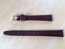 NEW KREISLER WATCH BAND BRACELET - Lizard Grain Leather 13mm 232102-13 Brown
