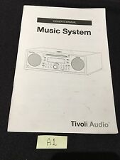 Tivoli Audio Music System w/ CD Player Radio Original Owners Manual A1