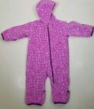 Columbia Baby Girll Fleece Bunting Size 6-12 Months Full zip