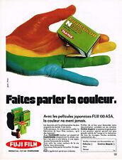 PUBLICITE ADVERTISING 035  1971  FUJI  100 ASA  pellicules JAPONAISES film coul