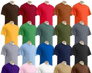 Big 3XL 4XL 5XL Short Sleeve T-Shirt Gildan Tee Big Men's Ultra Cotton 50 COLORS