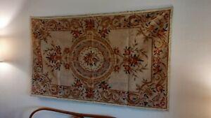 Tappeto mezzopunto arazzo Aubusson 150x90 cm come nuovo con ganci cuciti
