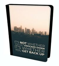 Not Knocked Down Back Typography Creative Quote Tablet Leather Case Cover