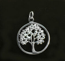 925 Sterling Silver Filigree Hollow Tree Of Life Pendant