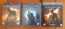 Nolan's Batman Begins, Dark Knight, Dark Knight Rises (Blu-Ray; Region Free)