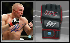 Georges St. Pierre GSP Signed MMA Fight Official UFC Training Glove & 8x10 Photo