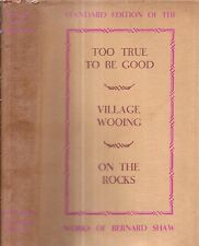 Very Rare 1934 Uk First Edition George Bernard Shaw With Dust Jacket Too True