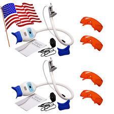 2 sets Dentale LED Lamp Whitening lampada Accelerato Sbiancamento + 2 Goggles