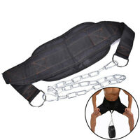 1X Dipping Belt Body Building Weight Lifting Dip Chain Exercise Gym TrainingSN