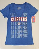 Los Angeles Clippers Womens Short Sleeve Mesh Burnout T-Shirt | SZ Large | NWT