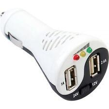 KFZ USB Adapter 2x USB 3A BATTERIETEST Zigarettenanzünder Ladegerät iPhone LKW