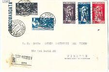 71473 - EGEO Rodi - Storia Postale - Ferrucci AFFRANCATURA MISTA su RACCOMANDATA