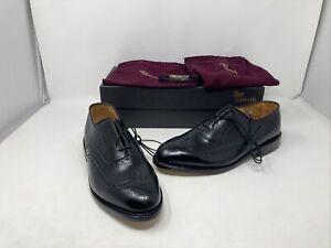 New!! Allen Edmonds Chester Wing Tip Oxford Dress Shoes Size 8.5 D Black Leather
