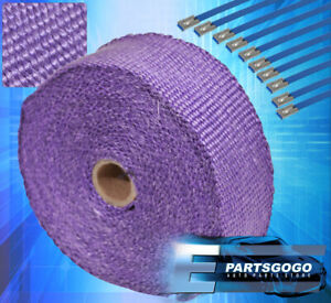 """360"""" 30Ft High Temp Heat Wrap Shield Cover Insulation Reduction Piping Purple"""