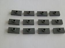 Lego 3794# 12x Fliese 1x2 mit Noppe grau neu dunkelgrau 8088 7751 10143 8085