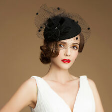 Womens Vintage Style Felt Wool Fascinator Cocktail Cheltenham Fesitval Hat A052