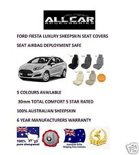 Sheepskin Car Seatcovers for Ford Fiesta all models Seat Airbag safe, 30mm TC