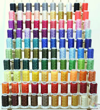 New 100 Brother & Babylock Colors Poly Machine Embroidery Thread Set 40wt Cones