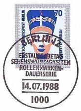 Berlin 1988: Nofretete in Berlin! SWK Nr 814 mit Ersttags-Sonderstempel! 1A 1709