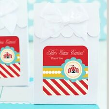 24 Circus Carnival Personalized Candy Boxes Bags Birthday Party Favors