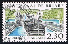 1 FRANCOBOLLO FRANCIA TURISTICA NAVI PONTE CANALE 1990 usato
