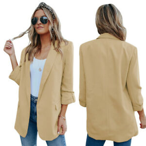 New Autumn and Winter Jacket Women's Solid Color Lapel Casual Fashion Small Suit