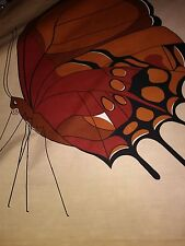 INCREDIBLY RARE Vtg Fabric Panel-Butterfly-1978 Domus Textiles/Shelley Winsor