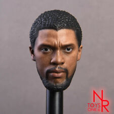 Black Panther Chadwick Boseman 1/6 Scale Head Sculpt Fit 12'' Action Figure Hot