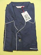 Derek Rose Homme Pyjamas-XXL - 100% soie PJ-Rrp. £ 595 New Otis 9 Marine Toilet 2XL