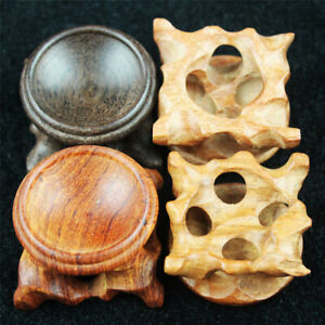 Natural Rosewood Wood Wooden Display Stand Base Holder for Crystal Sphere Ball