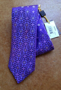 New Canali Men's 100% Silk Classic Neck Tie, Light Purple