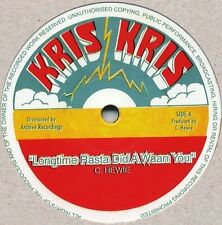 CHRIS HEWIE - LONG TIME RASTA DID AH WAAN YOU 12' (LIMITED UNPLAYED STOCK)