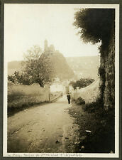 PHOTO ANCIENNE - VINTAGE SNAPSHOT - LE PUY EN VELAY ROCHER ST MICHEL D'AIGUILHE