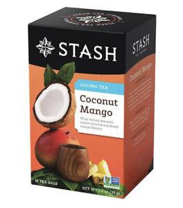 Stash Tea- Coconut Mango Oolong Tea 18 Tea Bags UK Seller