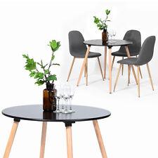 Table De Cuisine De Cuisine En Hêtre Avec Pieds En Bois Pied Réglable Noir