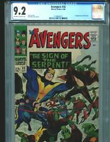 Avengers 32 CGC 9.2 OW/W pages 1st appearance of Bill Foster Marvel 1966