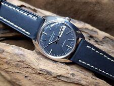 RARE Vintage GIRARD PERREGAUX ad alta frequenza Quadrante Nero Gyromatic Man's Watch