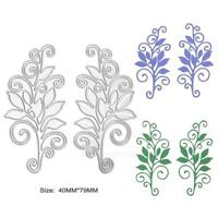 2 x Blume Stencil Cutting Dies DIY Scrapbooking Karte Tagebuch Stanzschablone