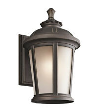 Kichler 49411RZ Ralston Collection 1 Light Outdoor Wall Sconce Rubbed Bronze