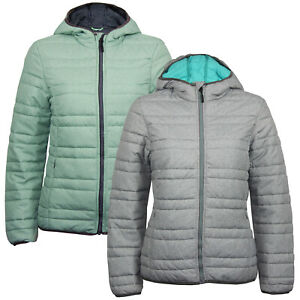 Ex Eu Chain Store Women's Padded Light Winter Waterproof Quilted Hoodie Jacket