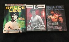 Bruce Lee Lot Of 3 Martial Arts Masters, Fist Of Fear Touch Of Death, Collectors